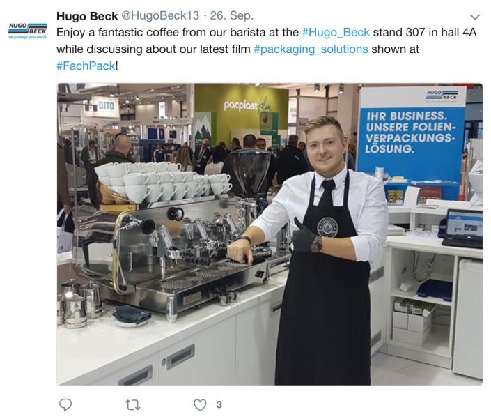 FachPack Messe Nürnberg Hugo Beck